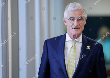 NVA's Flemish Minister-President Geert Bourgeois arrives for a party bureau of conservative Flemish nationalist party N-VA in Brussels, Belgium, 27 May 2019. The meeting takes place after 26 May's regional, federal and European elections.