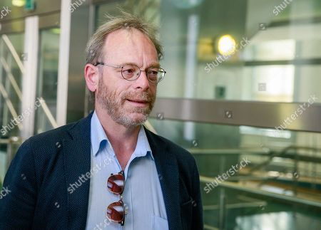 Stock Image of N-VA's head of group Peter De Roover arrives for a party bureau of conservative Flemish nationalist party N-VA in Brussels, Belgium, 27 May 2019. The meeting takes place after 26 May's regional, federal and European elections.