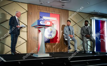 Jim White in a Q&A with Lee Hendrie and Darren Bent in the Wembley Suite