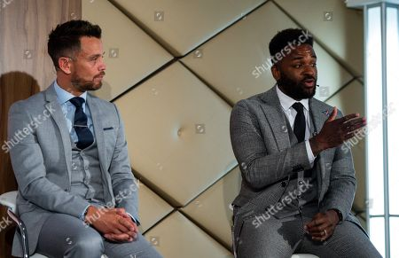 Stock Photo of Jim White in a Q&A with Lee Hendrie and Darren Bent in the Wembley Suite