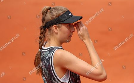 Germany's Antonia Lottner with a look of dejection during 1st round defeat