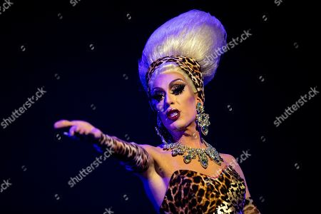 Stock Image of Pageant Founder Alaska Thunderfuck performs onstage during the Drag Queen Of The Year Competition at the Montalban Theater in Hollywood, California, USA, 26 May 2019. Drag Queen contestants took part in first ever Drag Queen of the Year Pageant and were judged on criteria such as presence, energy, integrity, and stunningness.