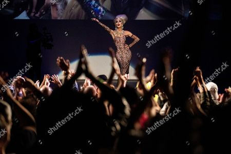 Pageant Founder Alaska Thunderfuck speaks onstage during the Drag Queen Of The Year Competition at the Montalban Theater in Hollywood, California, USA, 26 May 2019. Drag Queen contestants took part in first ever Drag Queen of the Year Pageant and were judged on criteria such as presence, energy, integrity, and stunningness.