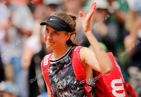 Antonia Lottner of Germany waves to the crowd