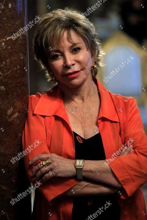 Chilean writer Isabel Allende speaks during an interview in Madrid, Spain, 27 May 2019. 'A Long Petal of the Sea', Allende's new novel, will be published on 21 May and is based on Spanish Civil War.