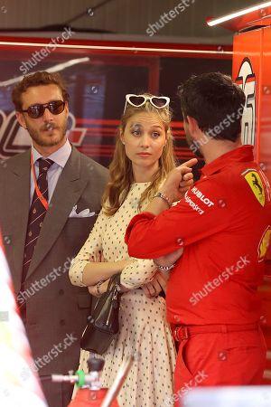 Stock Picture of Pierre Casiraghi and Beatrice Borromeo attend the Grand Prix