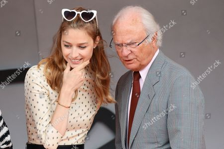 Beatrice Borromeo and King Carl Gustaf attending the Monaco F1 Grand Prix