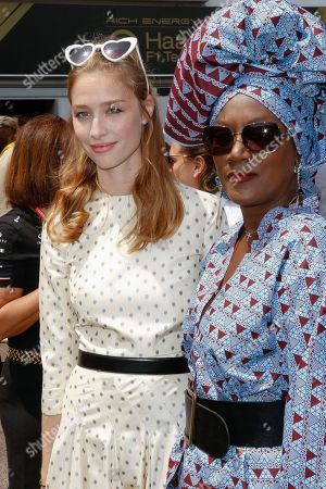 Beatrice Borromeo and Khadja Nin attending the Monaco F1 Grand Prix