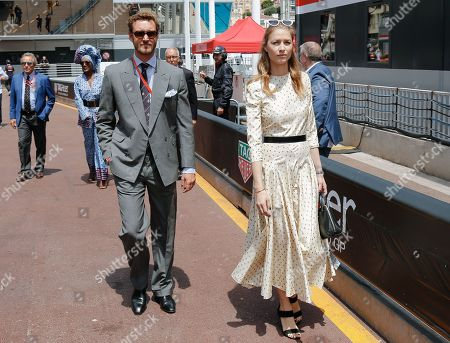 Pierre Casiraghi and wife Beatrice Borromeo attending the Monaco F1 Grand Prix