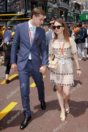 Princess Alexandra of Hanover and Ben Sylvester Strautmann attending the Monaco F1 Grand Prix