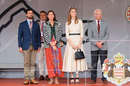 Prince Carl-Philip of Sweden, Tatiana Santo Domingo Casiraghi, Beatrice Borromeo and King Carl Gustaf