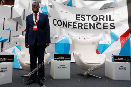 epa07606495 Congolese gynecologist, 2018 Nobel Prize for his efforts to end sexual violence as a weapon, Denis Mukwege, during Estoril Conferences panel 'Global Challenges, Local Answers', in Cascais, Portugal, 27 May 2019.