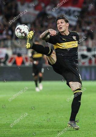Stuttgart's Steven Zuber in action during the German Bundesliga relegation play-off second leg soccer match between 1. FC Union Berlin and VfB Stuttgart, in Berlin, Germany, 27 May 2019.