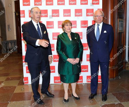 Stock Image of Jan Eliasson, Michelle Bachelet and King Carl Gustaf