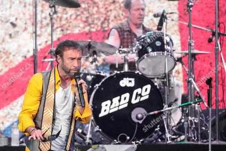 Stock Photo of Simon Kirke and Paul Rodgers of Bad Company