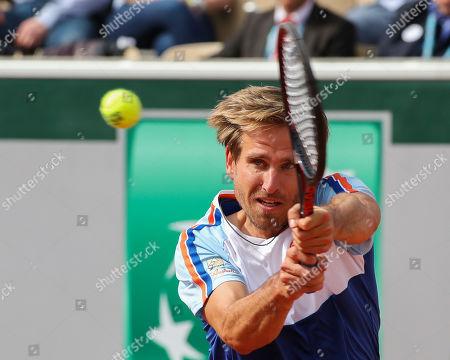 Editorial photo of Peter Gojowczyk Tennis - French Open 2019 - Paris - Grand Slam / ATP / WTA / ITF -  Roland Garros  - France - 2019