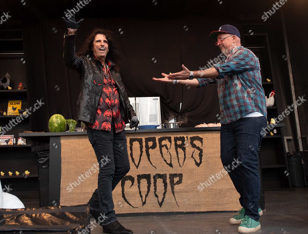 Stock Image of Alice Cooper and Andrew Zimmern