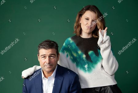 """This photo shows Kyle Chandler, left, and Millie Bobby Brown posing for a portrait at the London Hotel in West Hollywood, Calif., to promote their new film """"Godzilla: King of the Monsters"""