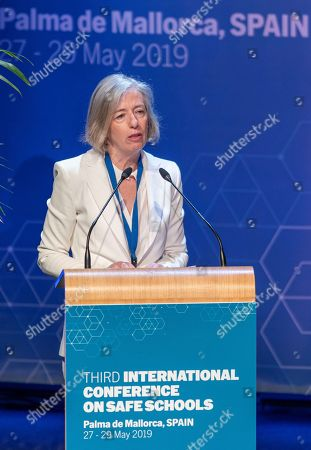 Stock Picture of UNESCO's assistant Director-General for Education Stefania Giannini delivers a speech during the opening of the third International Conference on Safe Schools in Palma de Majorca, Spain, 28 May 2019.