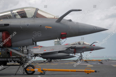 Editorial photo of French nuclear aircraft carrier Charles de Gaulle (R 91) in Singapore - 28 May 2019