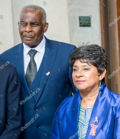 Editorial image of Doreen And Neville Lawrence Attending The 25th Anniversary Of The Murder Of Their Son Stephen Lawrence At The St Martin's In The Field Church In London. Royal Rota Picture David Parker 23.4.18 Writer Richard Pendelbury.