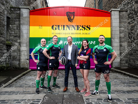 Editorial image of GUINNESS Gates Transformed To Support The 2019 Union Cup Dublin, Dublin  - 28 May 2019