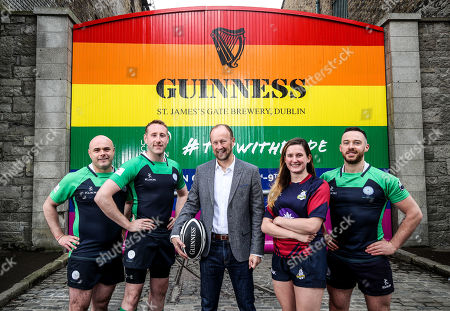 Editorial picture of GUINNESS Gates Transformed To Support The 2019 Union Cup Dublin, Dublin  - 28 May 2019