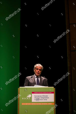 Christos Stylianides, European Commissioner for Humanitarian Aid and Crisis Management, delivers a speech during the 4th European Climate Change Adaptation Conference 2019 at Belem Cultural center, Lisbon, Portugal, 28th May 2019.