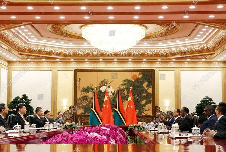 Editorial photo of Vanuatu Prime Minister Charlot Salwai visits Beijing, China - 28 May 2019