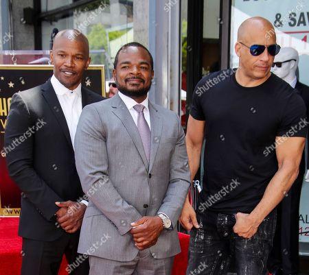 Jamie Foxx, F. Gary Gray and Vin Diesel