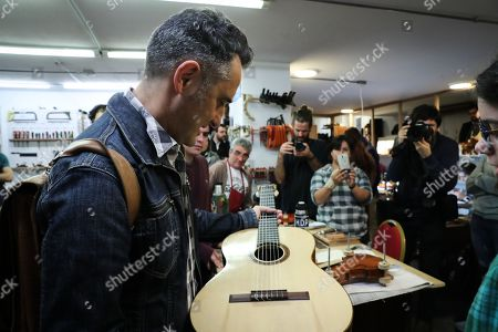Jorge Drexler attends an event of the Iberorquestas Juveniles program as Ibero American Cultural Ambassador, in Montevideo, Uruguay, 28 May 2019.