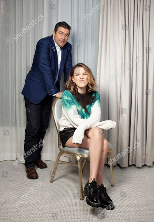 """Kyle Chandler and Millie Bobby Brown pose for a portrait in promotion of their new film """"Godzilla"""" at the London Hotel in West Hollywood, Calif. on"""