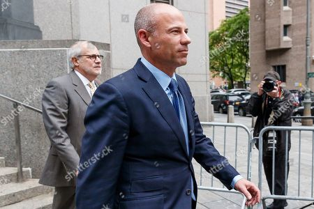 Michael Avenatti (C) walks between federal courthouses after he plead not guilty to charges that he stole 300 thousand US dollars in book sales from former client Stormy Daniels in New York, New York, USA, 28 May 2019. Avenatti has three separate court appearances on the same day on various charges.