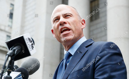 Michael Avenatti talks to reporters while departs an US Federal Courthouse after attending hearings where he plead not guilty to charges that he stole 300 thousand US dollars in book sales from former client Stormy Daniels and plead not guilty to extortion charges in New York, New York, USA, 28 May 2019. Avenatti had three separate court appearances today on various charges.