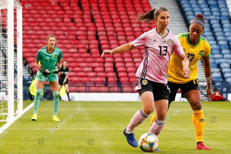 Jane Goldman (West Ham United WFC (ENG)) of Scotland during the International Friendly match between Scotland Women and Jamaica Women at Hampden Park, Glasgow