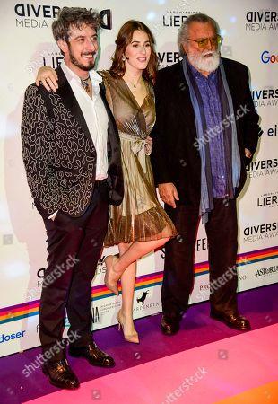 Paolo Ruffini, Diana Del Bufalo and Diego Abatantuono