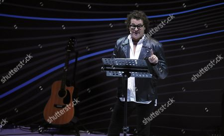 Carlos Vives performs during the EXMA 2019 Business Congress in Bogota, Colombia, 28 May 2019. The event runs from 27 to 28 May in the Colombian capital.