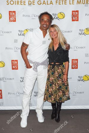 Stock Photo of Yannick Noah and Isabelle Camus