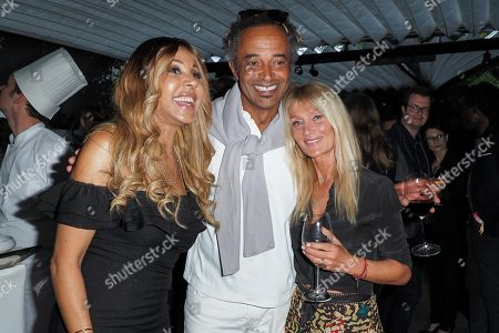 Cathy Guetta, Yannick Noah and Isabelle Camus
