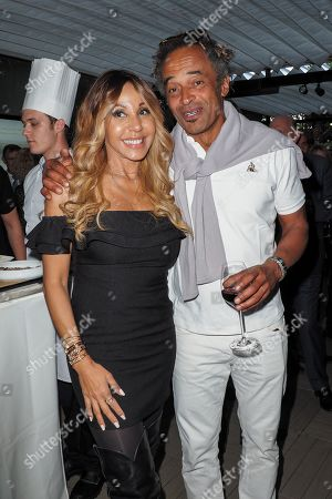 Stock Picture of Cathy Guetta and Yannick Noah