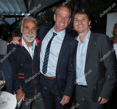 Mansour Bahrami, Guy Forget and a guest