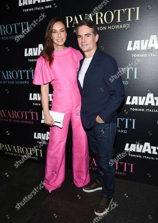 "Ingrid Vandebosch, Jeff Gordon. Race car driver Jeff Gordon and wife Ingrid Vandebosch attend a special screening of ""Pavarotti"" at the iPic Theater, in New York"