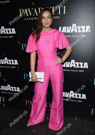 """Ingrid Vandebosch attends a special screening of """"Pavarotti"""" at the iPic Theater, in New York"""