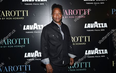 "Roger Ross Williams attends a special screening of ""Pavarotti"" at the iPic Theater, in New York"