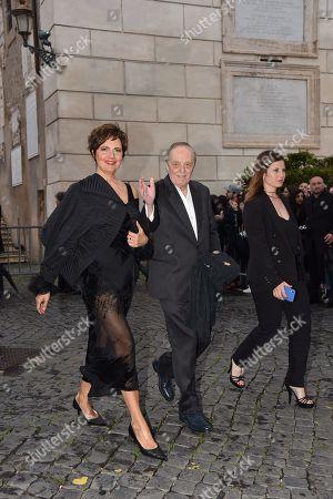 Dario Argento and companion