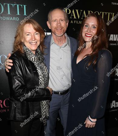 Stock Photo of Cheryl Howard, Ron Howard (Director) and Paige Howard
