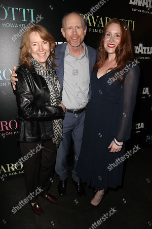 Stock Image of Cheryl Howard, Ron Howard (Director) and Paige Howard