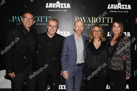 Paul Crowder (Film Editor), Nigel Sinclair (Producer), Ron Howard (Director), Nicoletta Mantovani and Jeanne Elfant Festa (Producer)