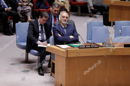 Stock Picture of Bashar Jaafari Syrian Ambassador to the United Nations