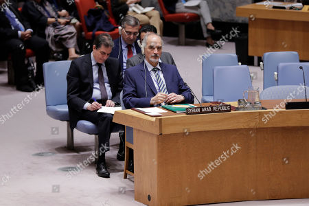 Editorial image of UN Security Council Meeting on Syria, New York, USA - 28 May 2019